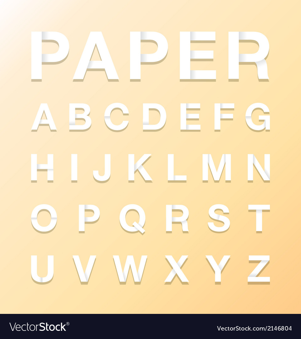 Paper letters vector image