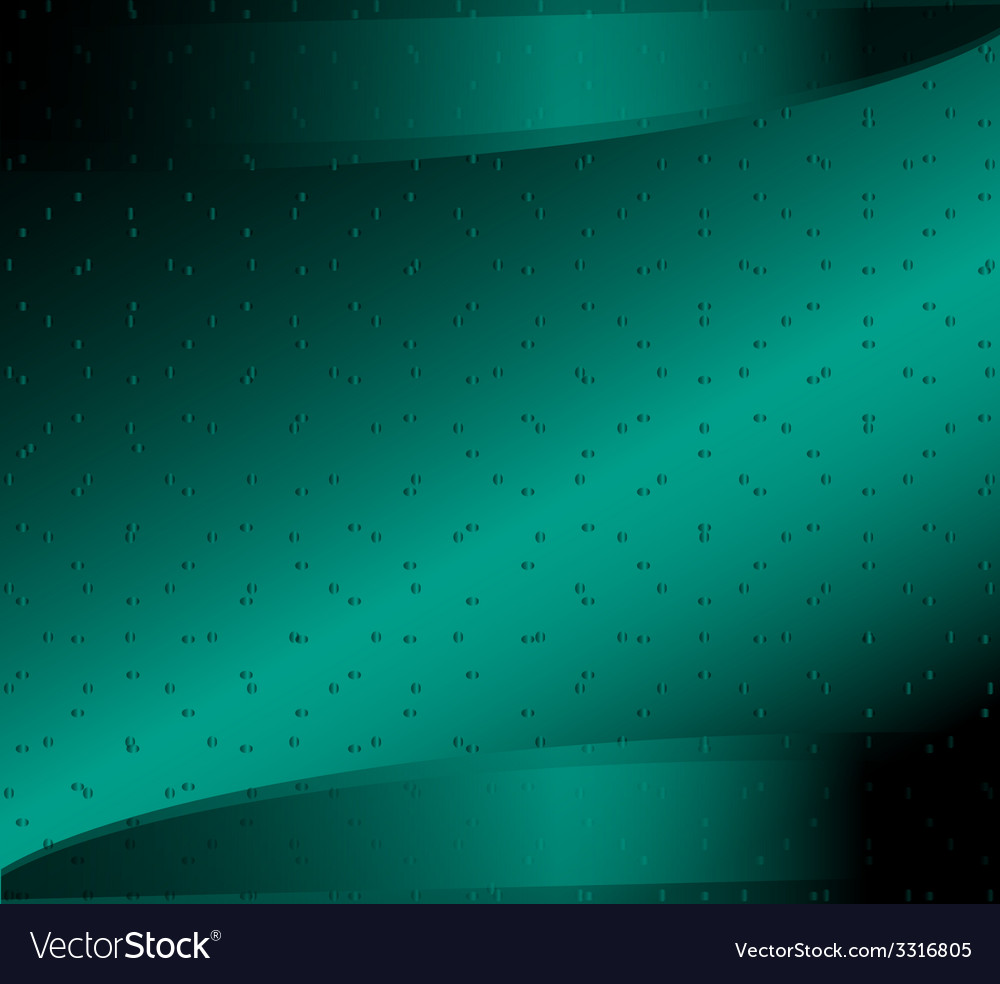 Digital green background with dots vector image