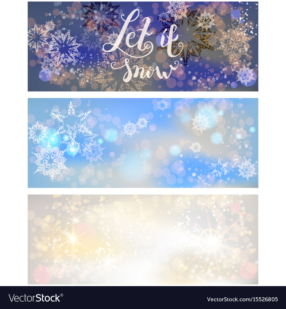 Holiday greetings banners vector image