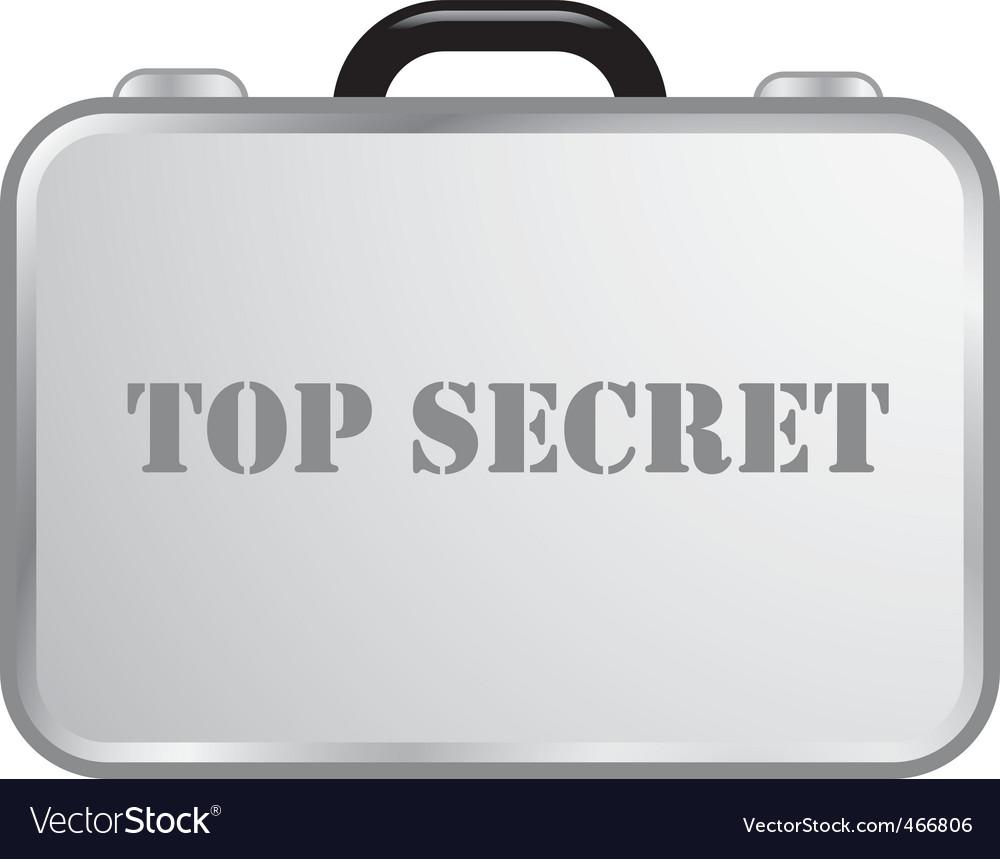 Steel briefcase top secret vector image