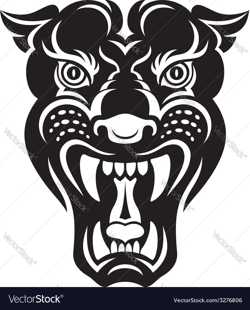 Panther tattoo vector image