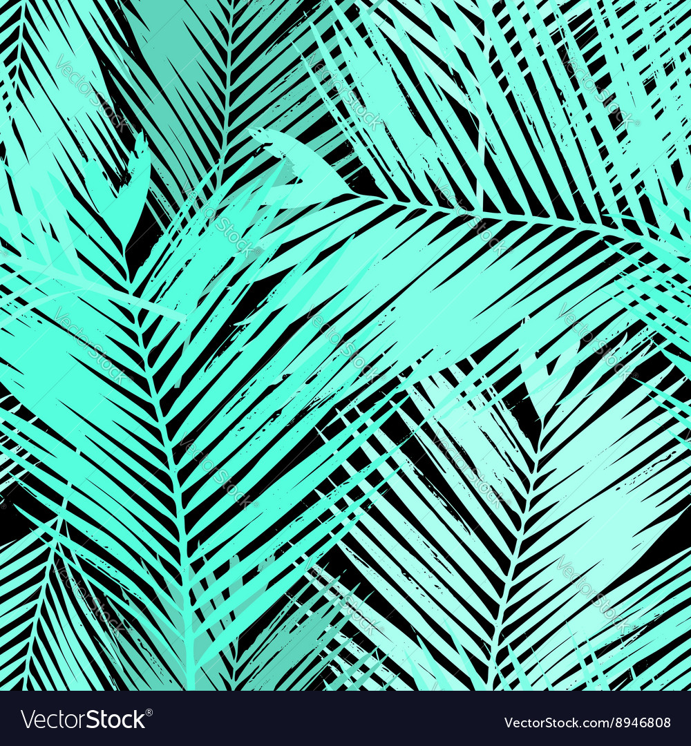 palm tree leaves seamless pattern royalty free vector image