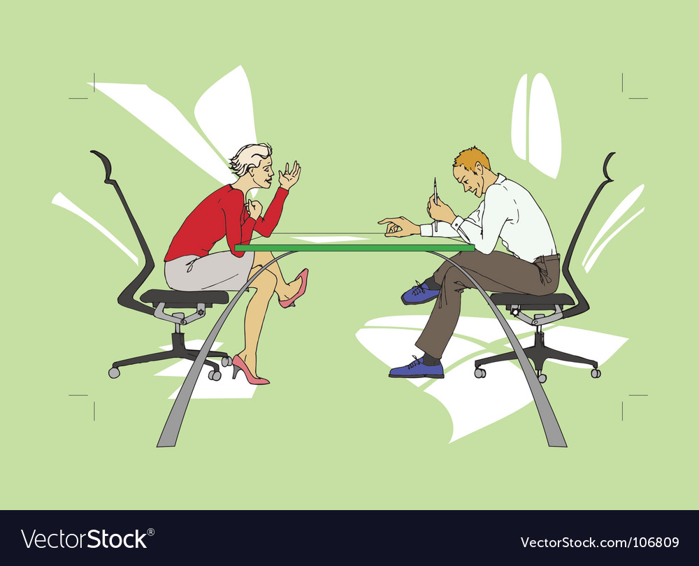Business people talking vector image