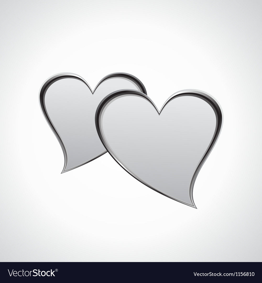 Hearts speech bubble vector image