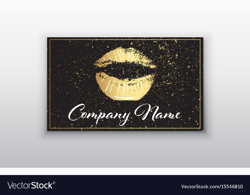 Makeup artist business card business cards Vector Image