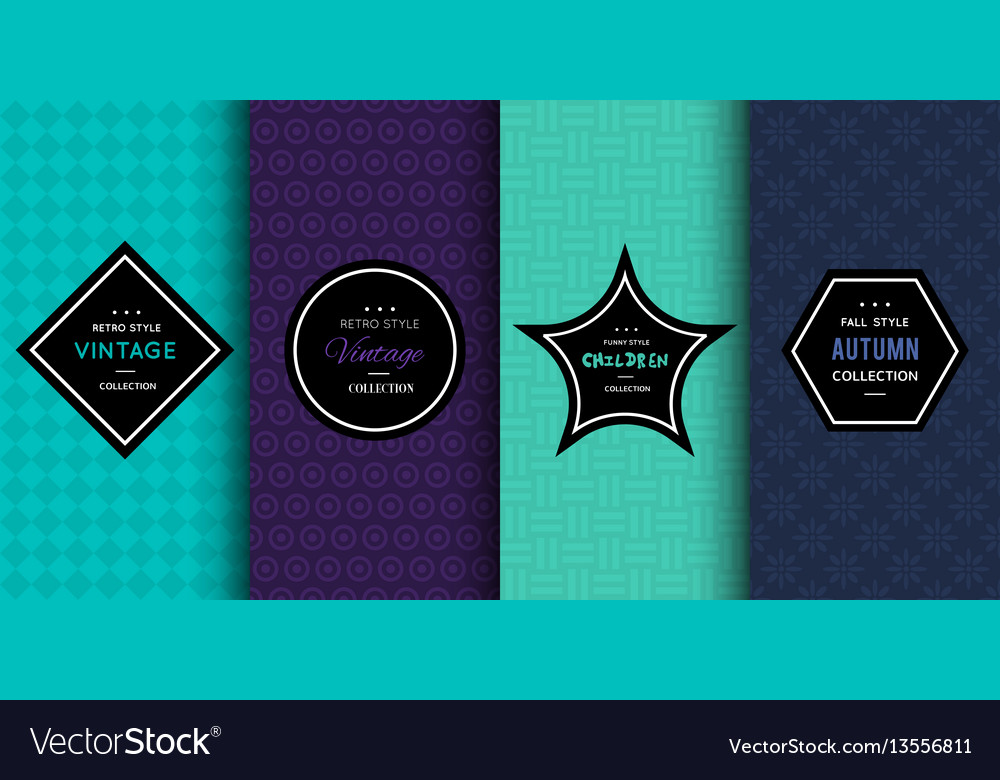 Modern patterns for bright background vector image