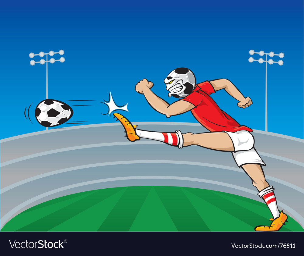 soccer player cartoon. Soccer Player Cartoon Vector