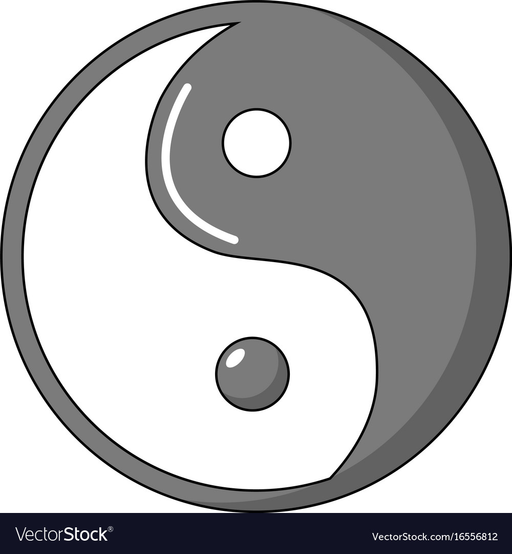 Yin yang symbol taoism icon cartoon style vector image yin yang symbol taoism icon cartoon style vector image biocorpaavc