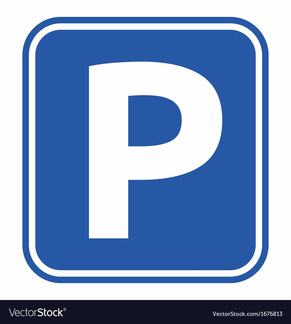 Parking no parking resize vector image