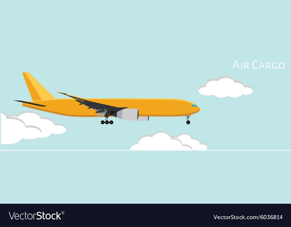 Air cargo vector image