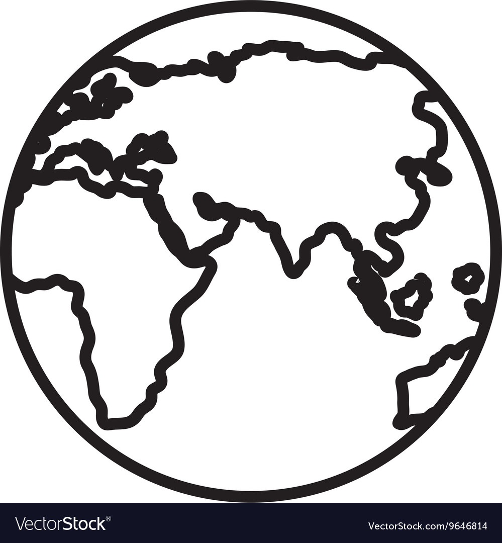 Black and white world map graphic royalty free vector image black and white world map graphic vector image gumiabroncs
