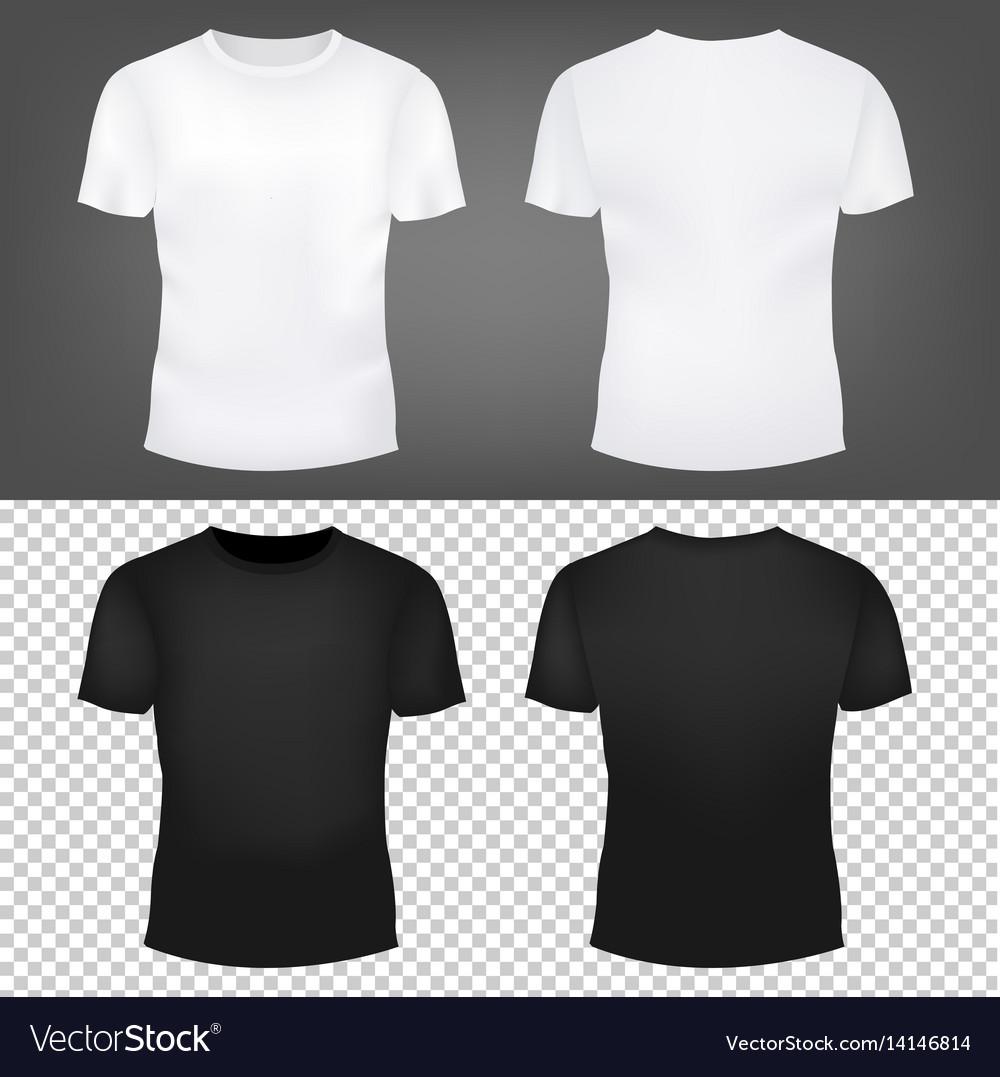 T-shirt template set vector image