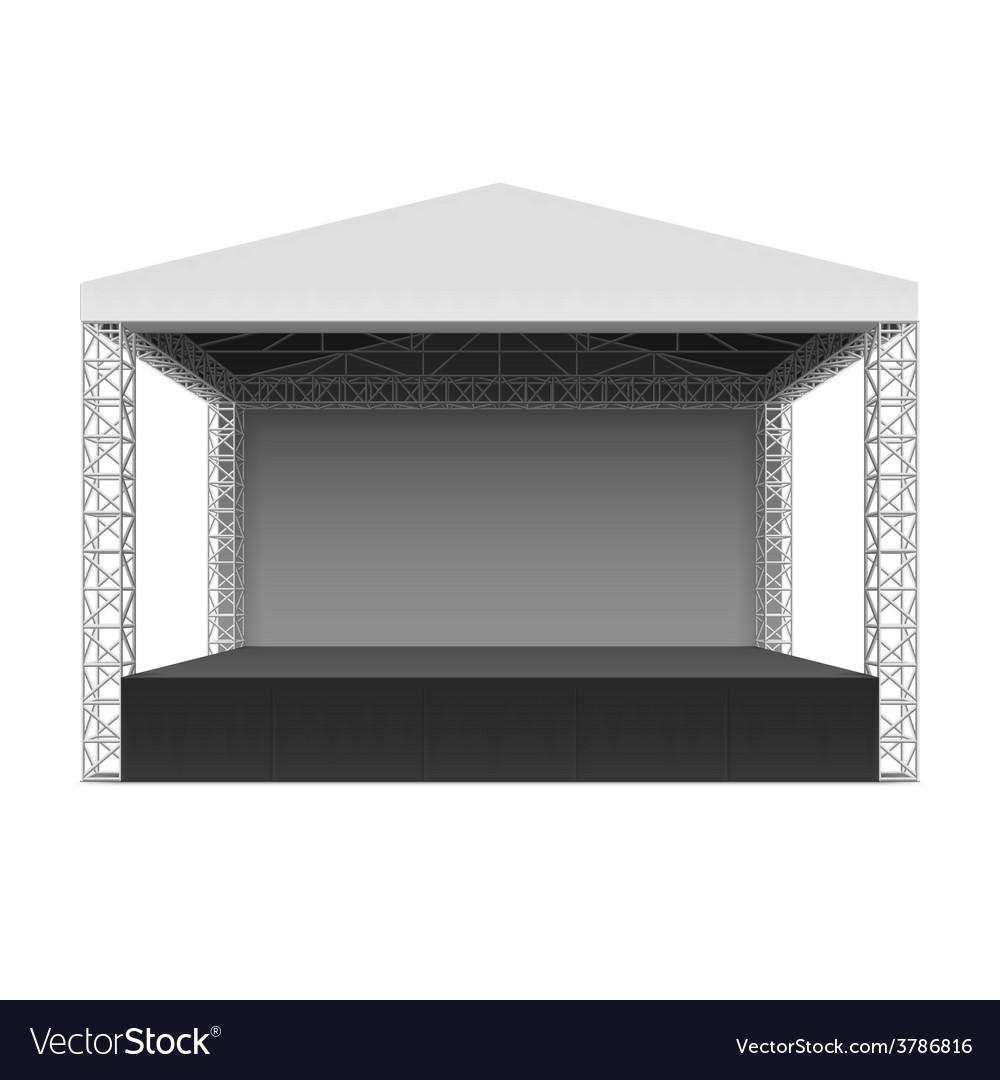 Empty outdoor concert stage - Outdoor Concert Stage Vector Image