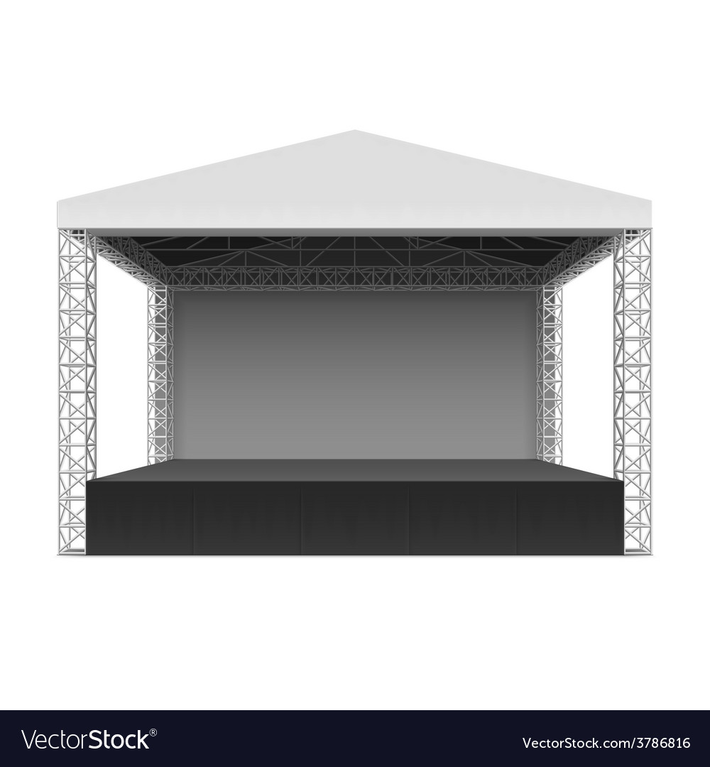 Outdoor concert stage vector image