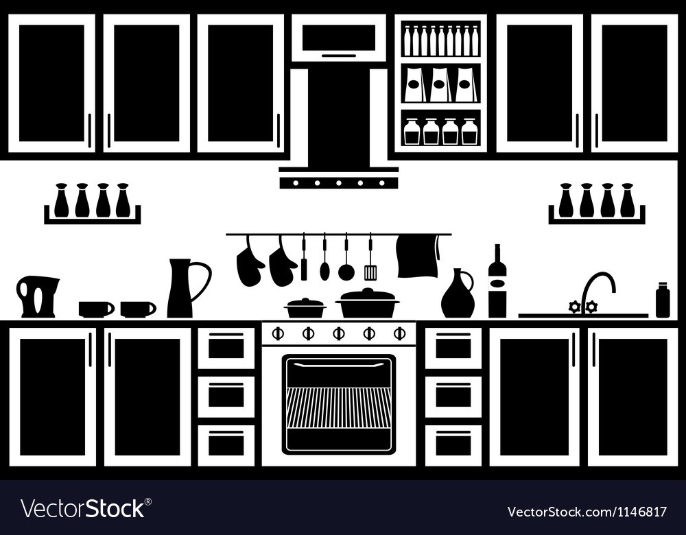 Icon of kitchen vector image