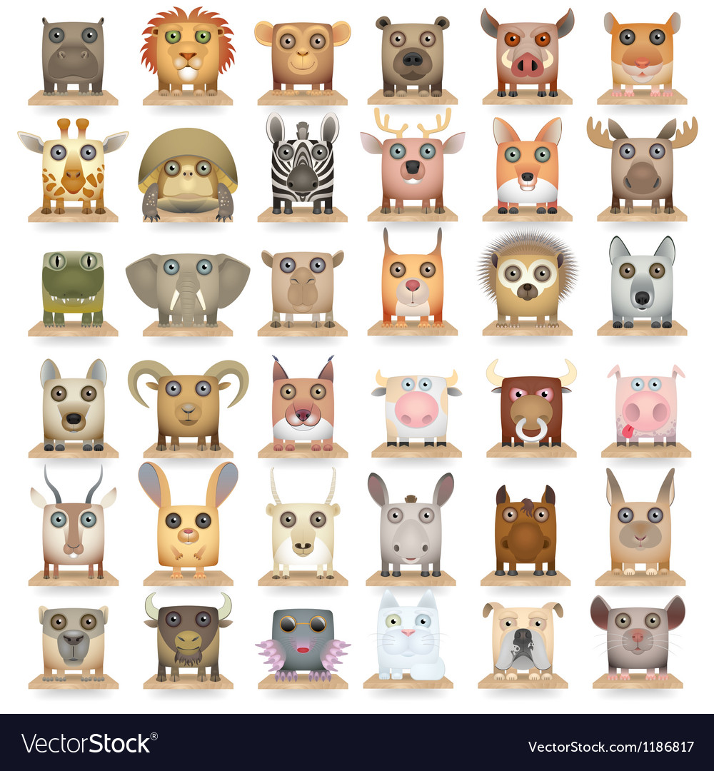 Animals set new big vector image