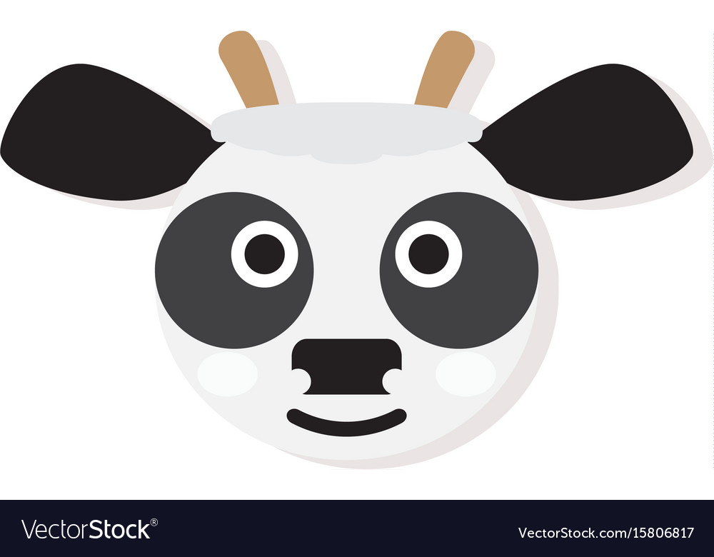 Isolated cow face vector image