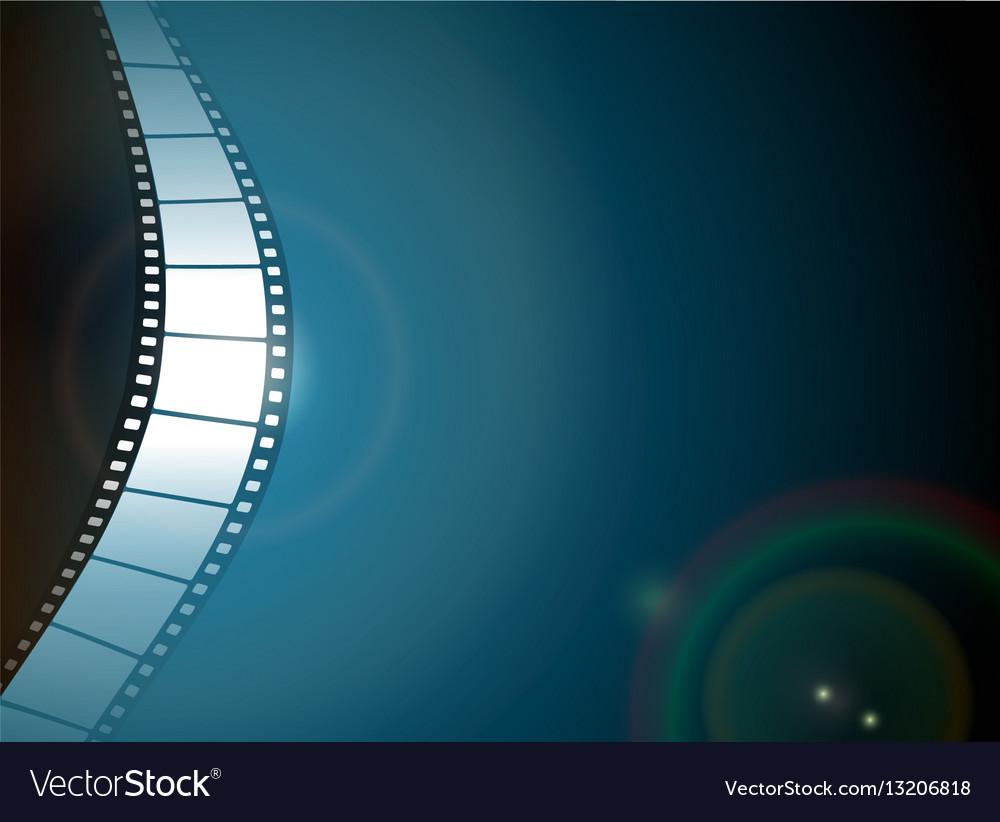 Photo film strip on dark background vector image