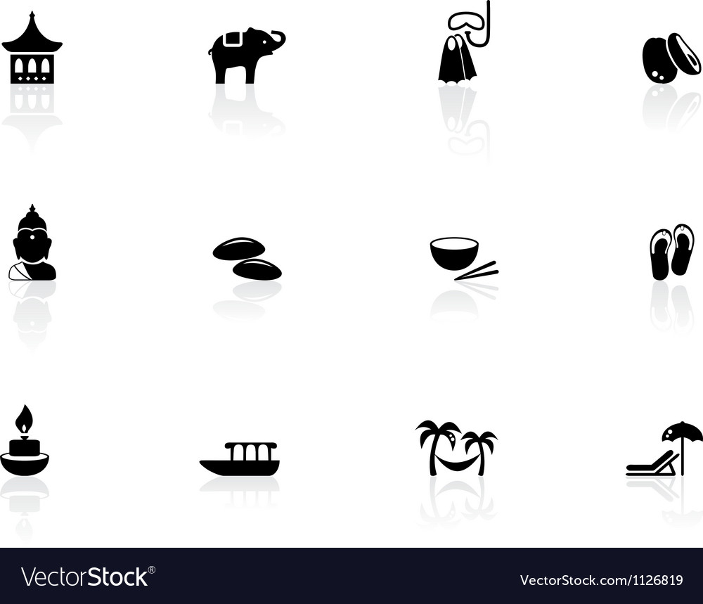 Thai icons vector image