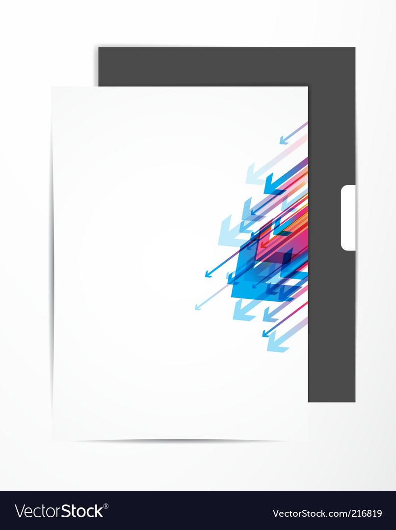 Letterhead design vector image