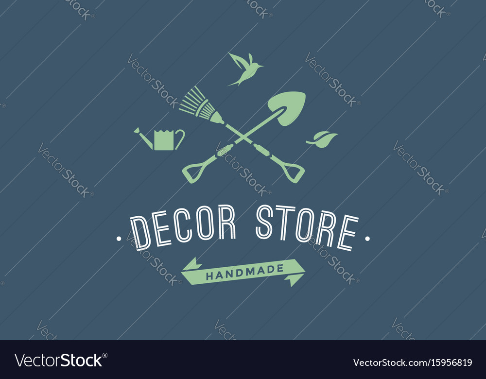 Logo of hand made decor store vector image