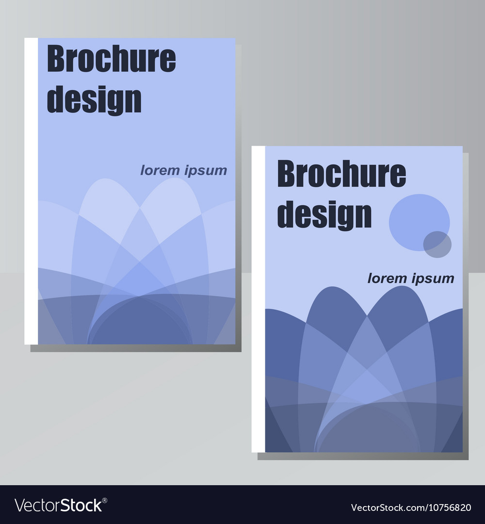 Brochure design for business or vector image