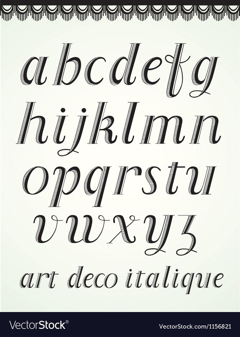 Art Deco Alphabet vector image