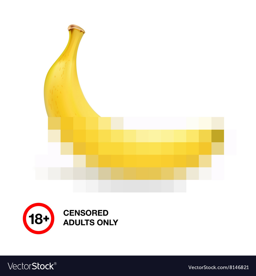 Banana closed by censorship symbol adult only 18 vector image banana closed by censorship symbol adult only 18 vector image biocorpaavc
