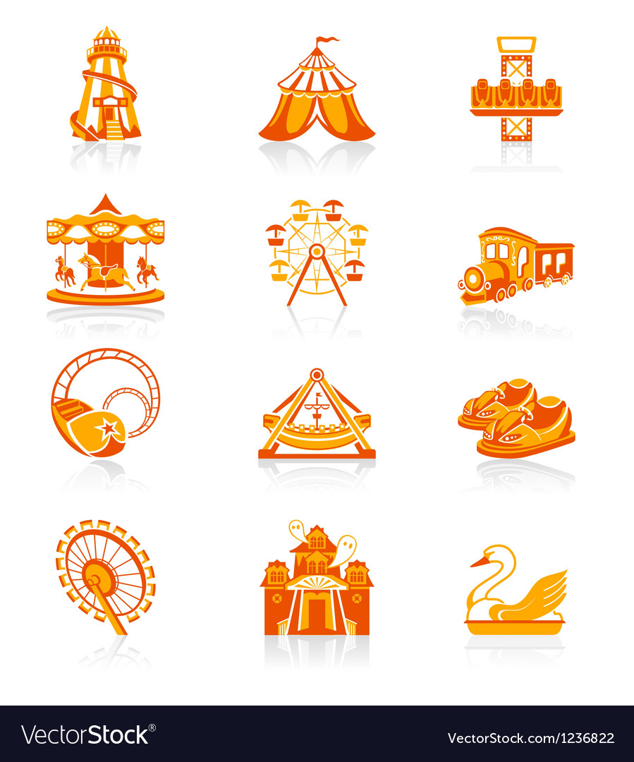 Attraction set - Juicy vector image