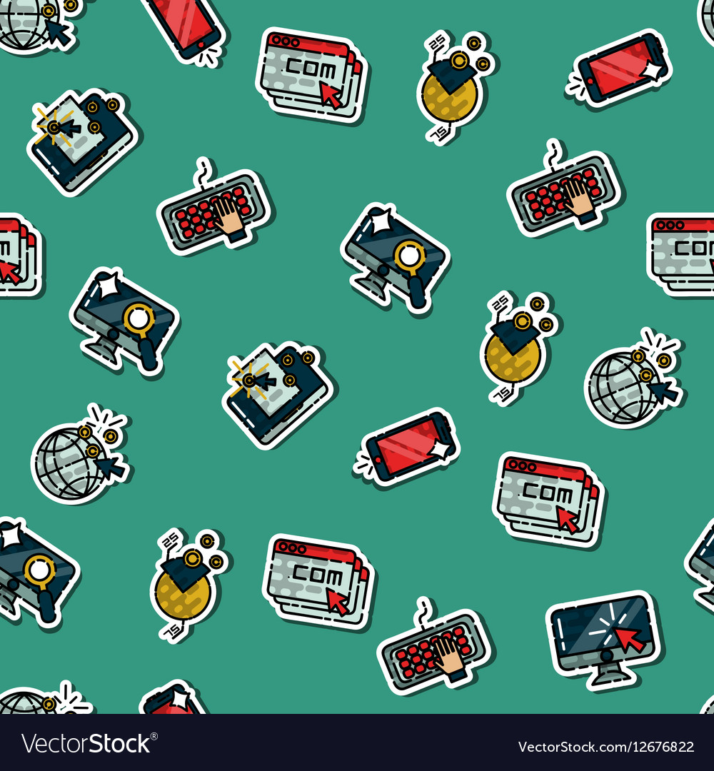 Colored web design pattern vector image