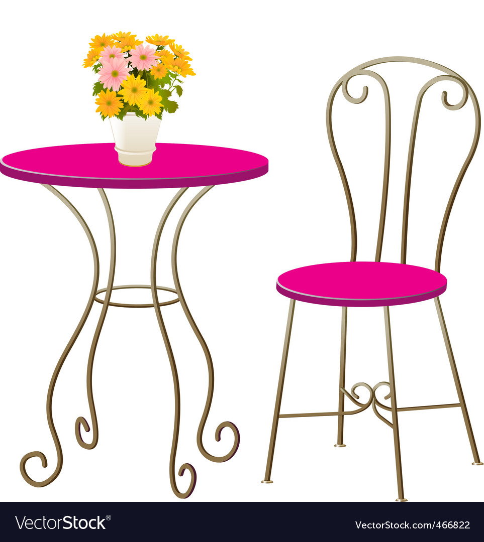 Table chair vector image