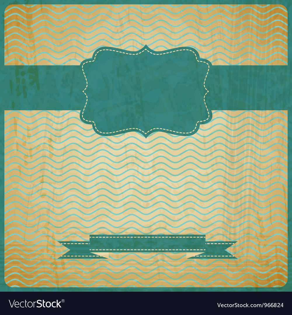 EPS10 vintage grunge old card Background with Vector Image