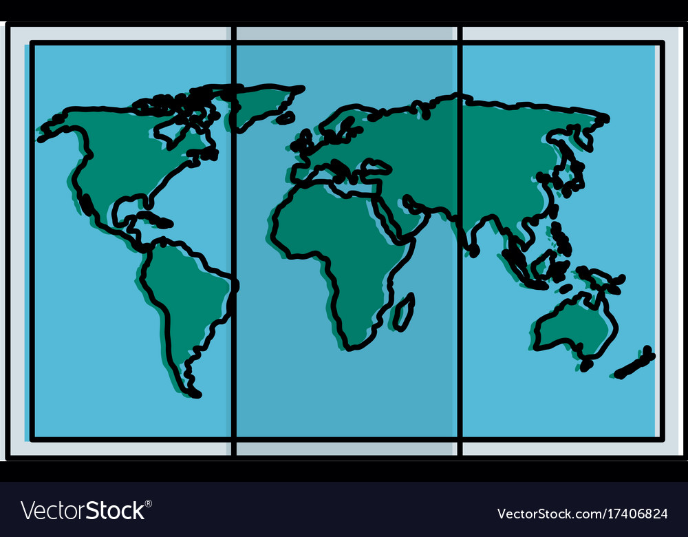 World map paper icon royalty free vector image world map paper icon vector image gumiabroncs Choice Image