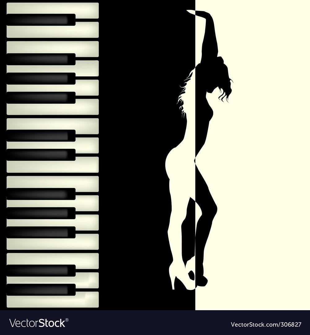 Piano bar Vector Image