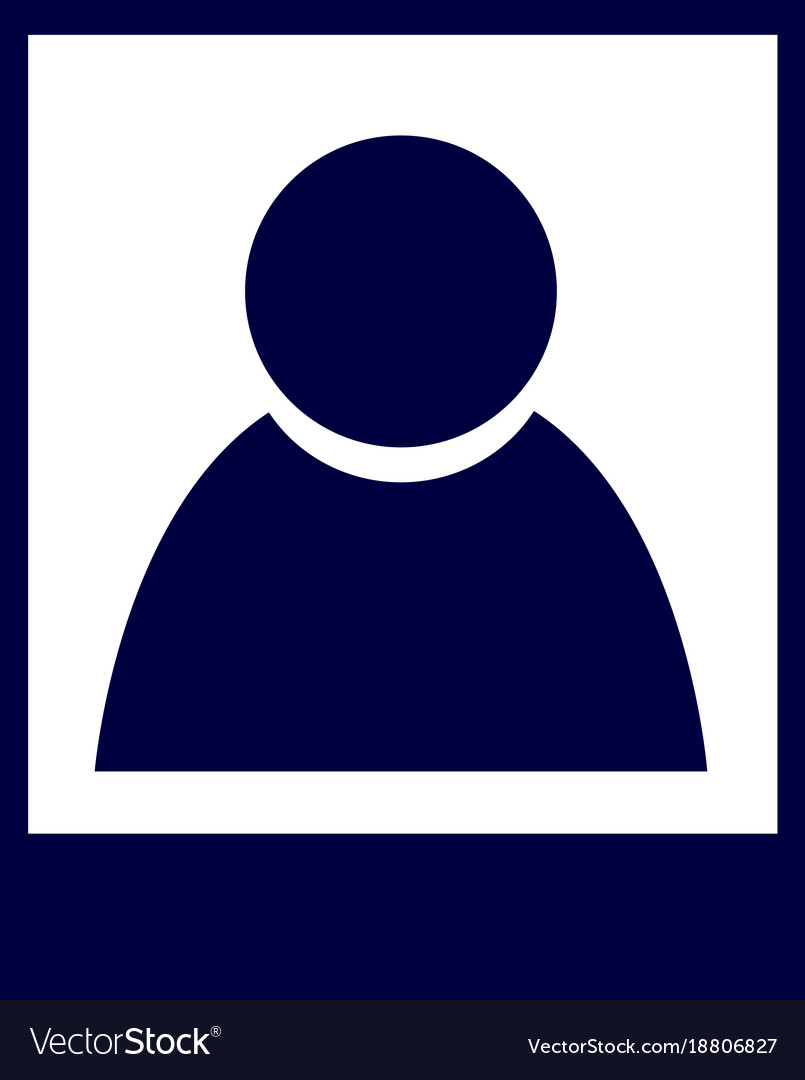 Isolated profile icon vector image
