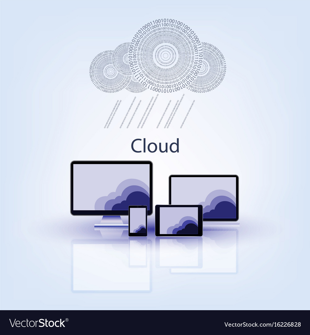 Bright design with computer technology vector image
