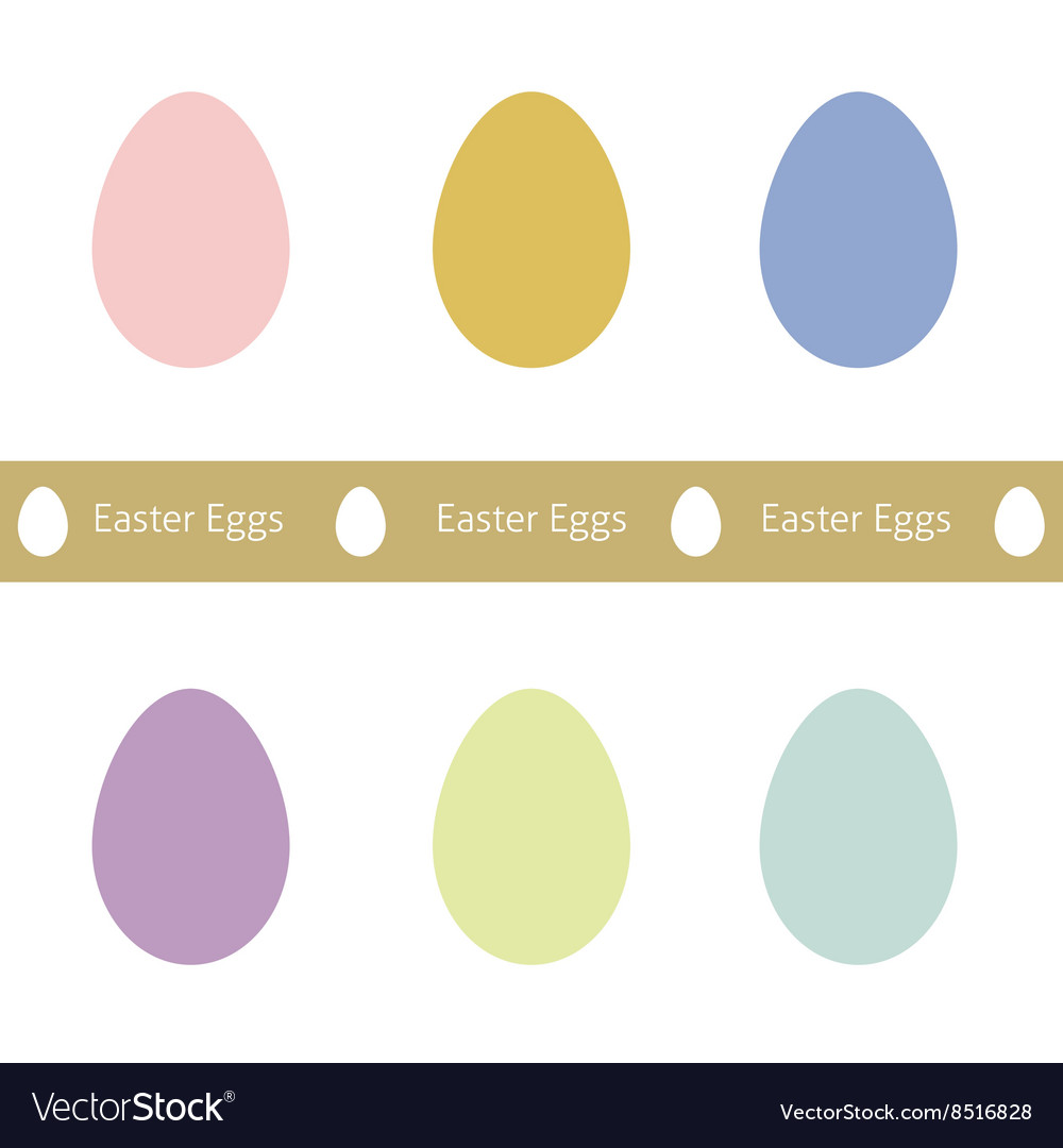Set of Easter Eggs set of Easter eggs vector image