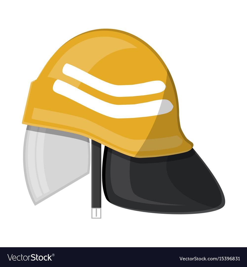 Firefighter helmet fire equipment vector image