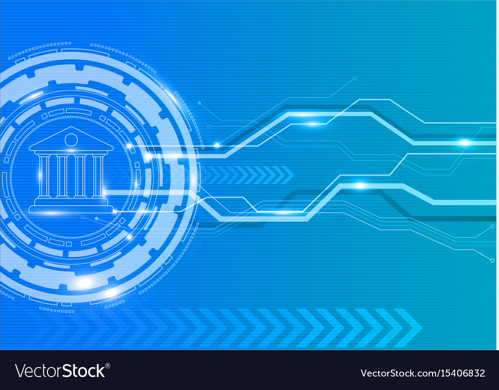 Digital banking with innovation concept vector image