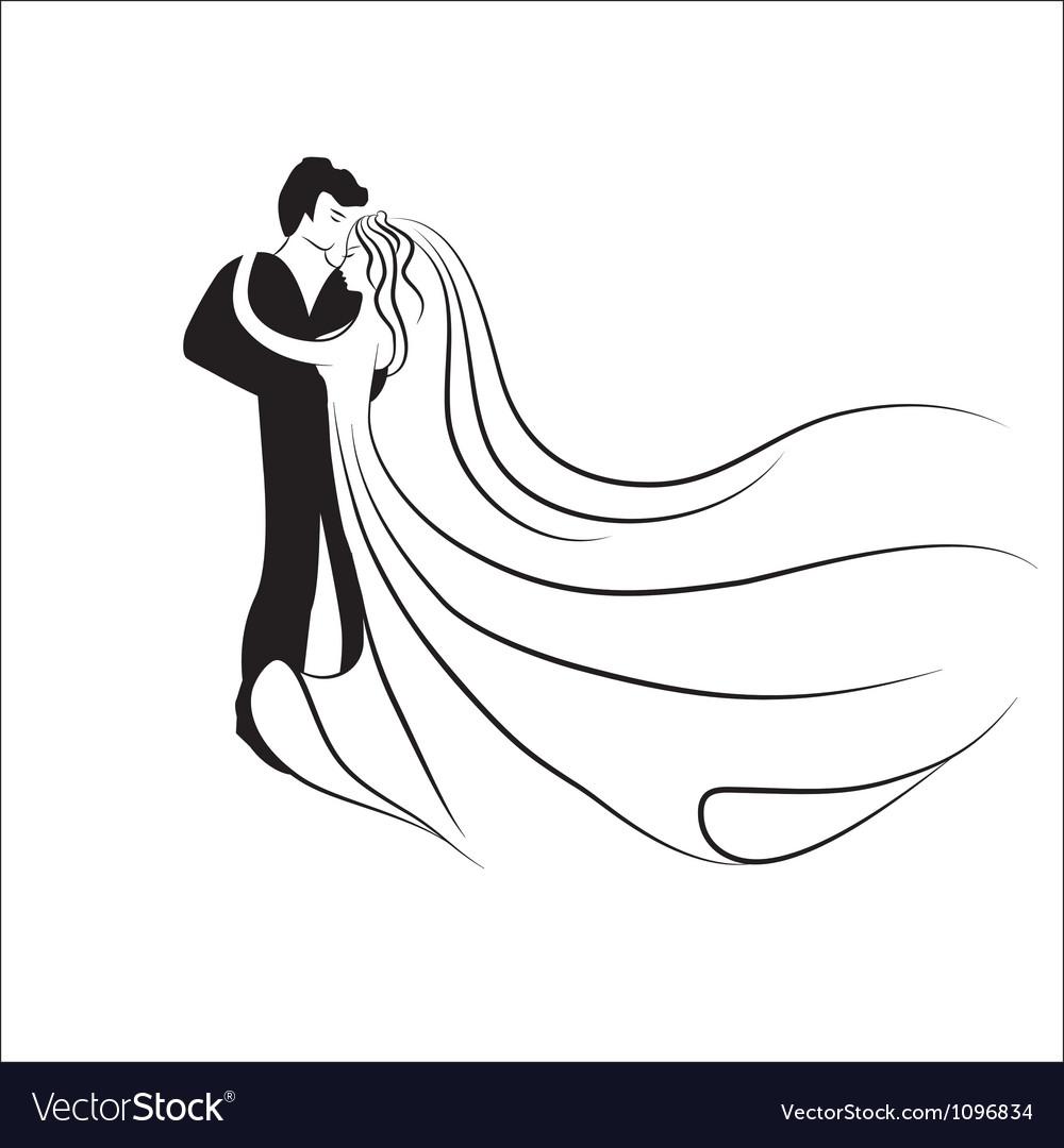 Wedding logotype Man and woman vector image