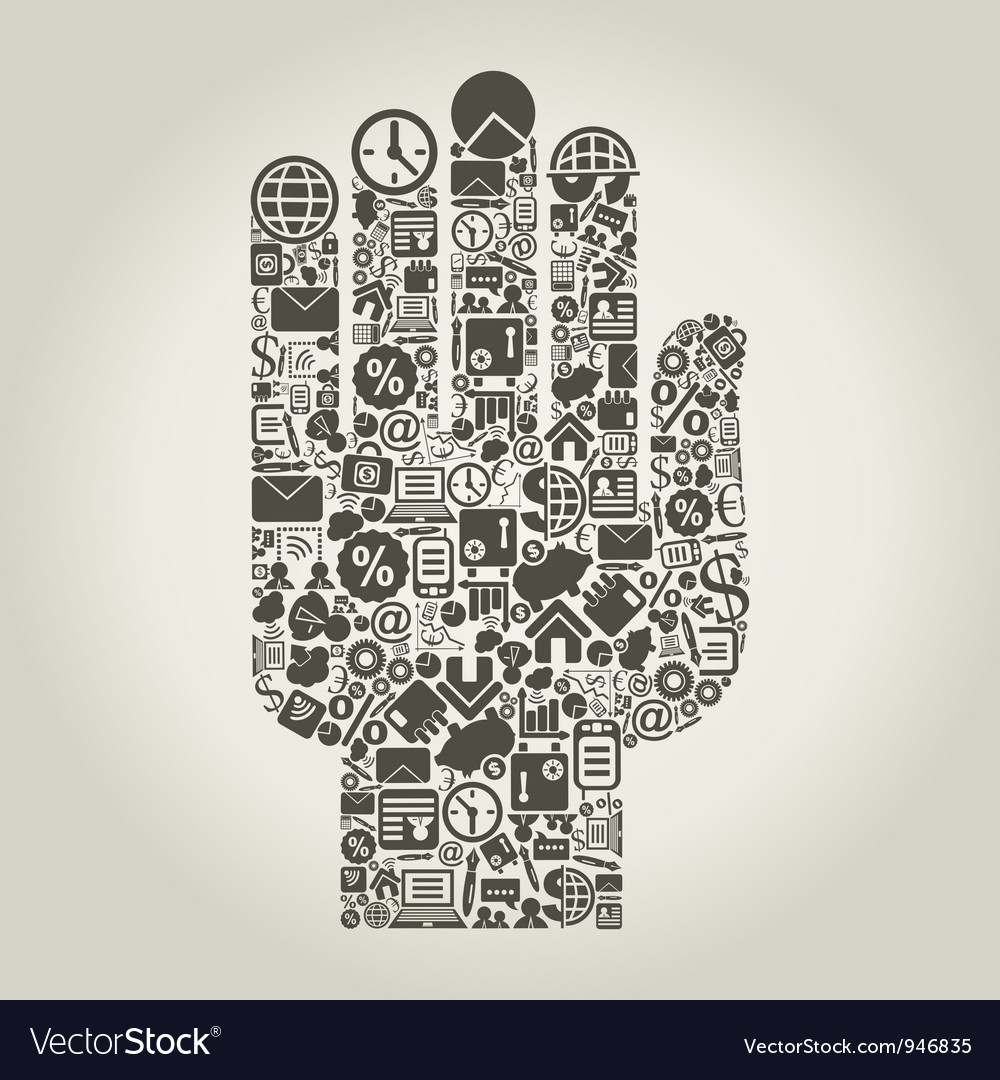 Business Finance Hand vector image