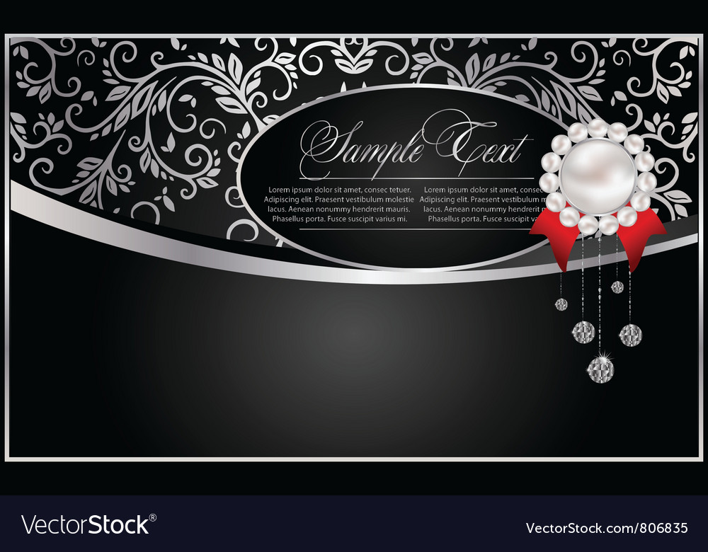 Abstract background with pearl vector image