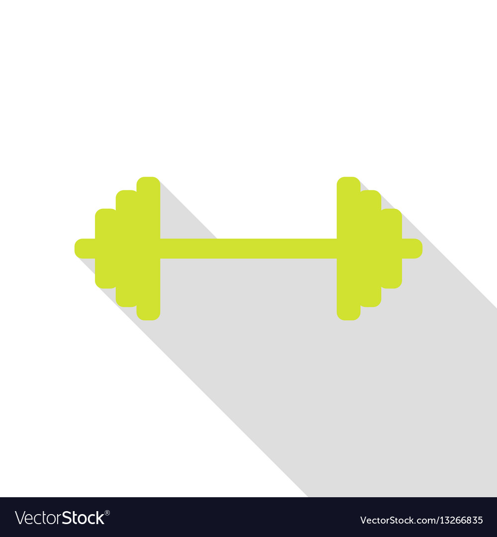 Dumbbell weights sign pear icon with flat style vector image