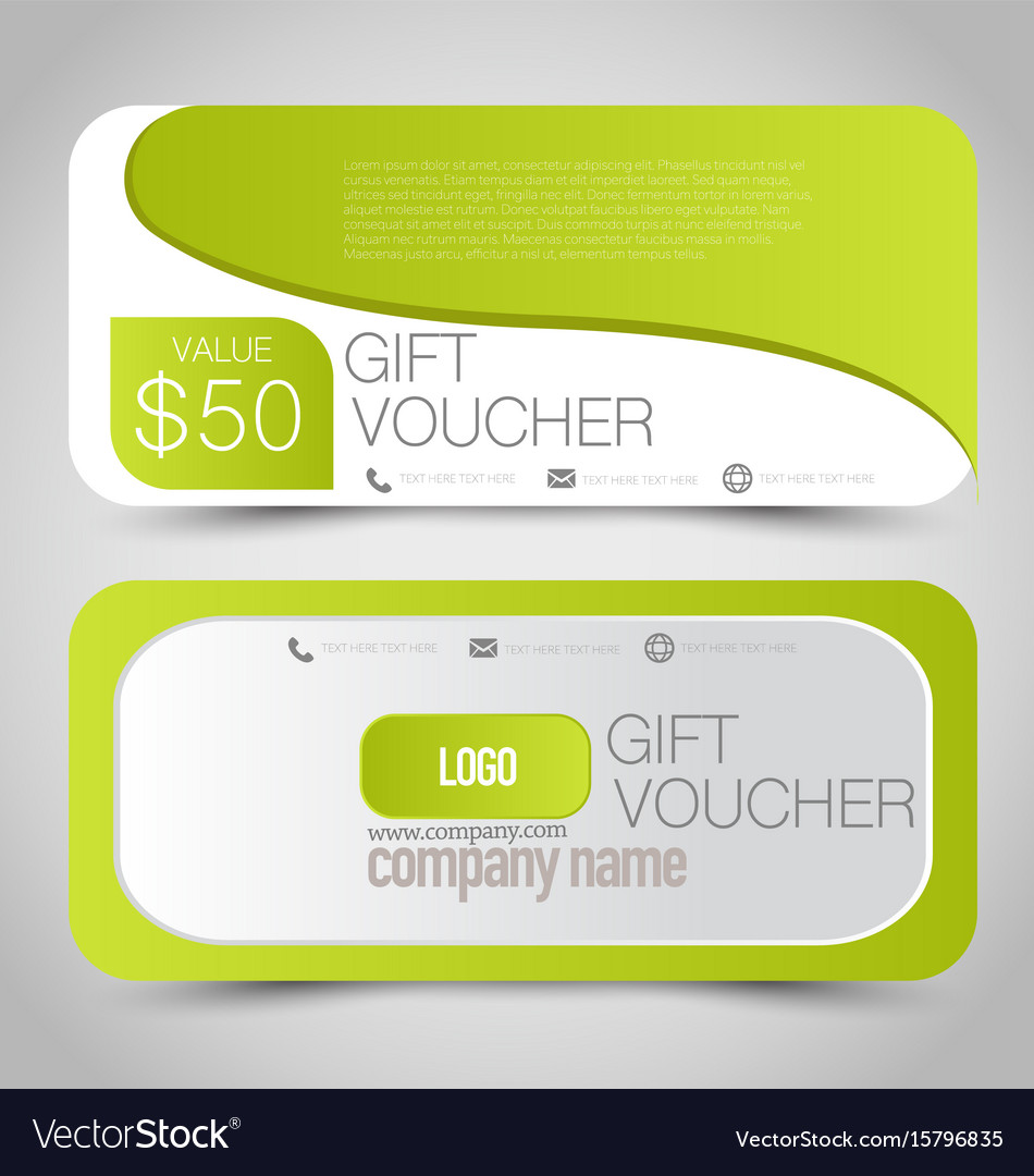 Gift card voucher business banner Royalty Free Vector Image