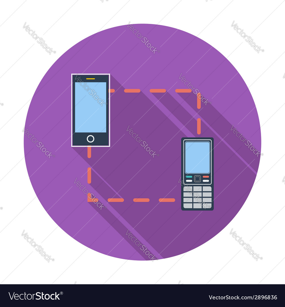 Phone sync single icon vector image