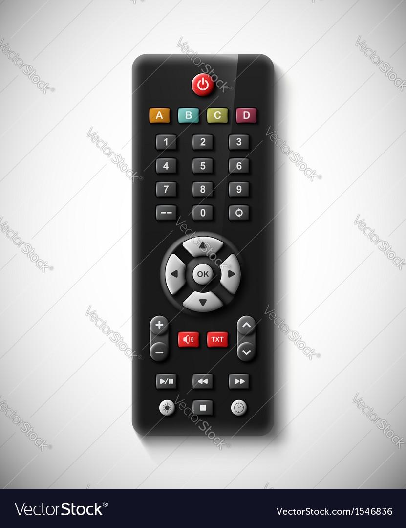 TV remote vector image