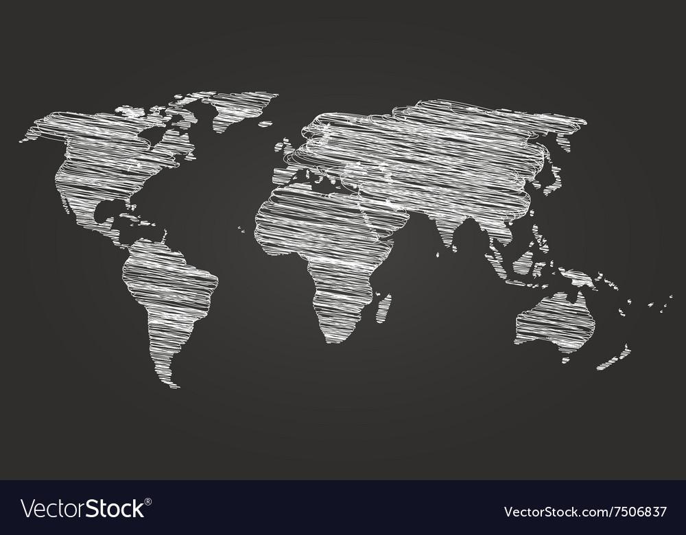 World map globe line sketch royalty free vector image world map globe line sketch vector image gumiabroncs Choice Image