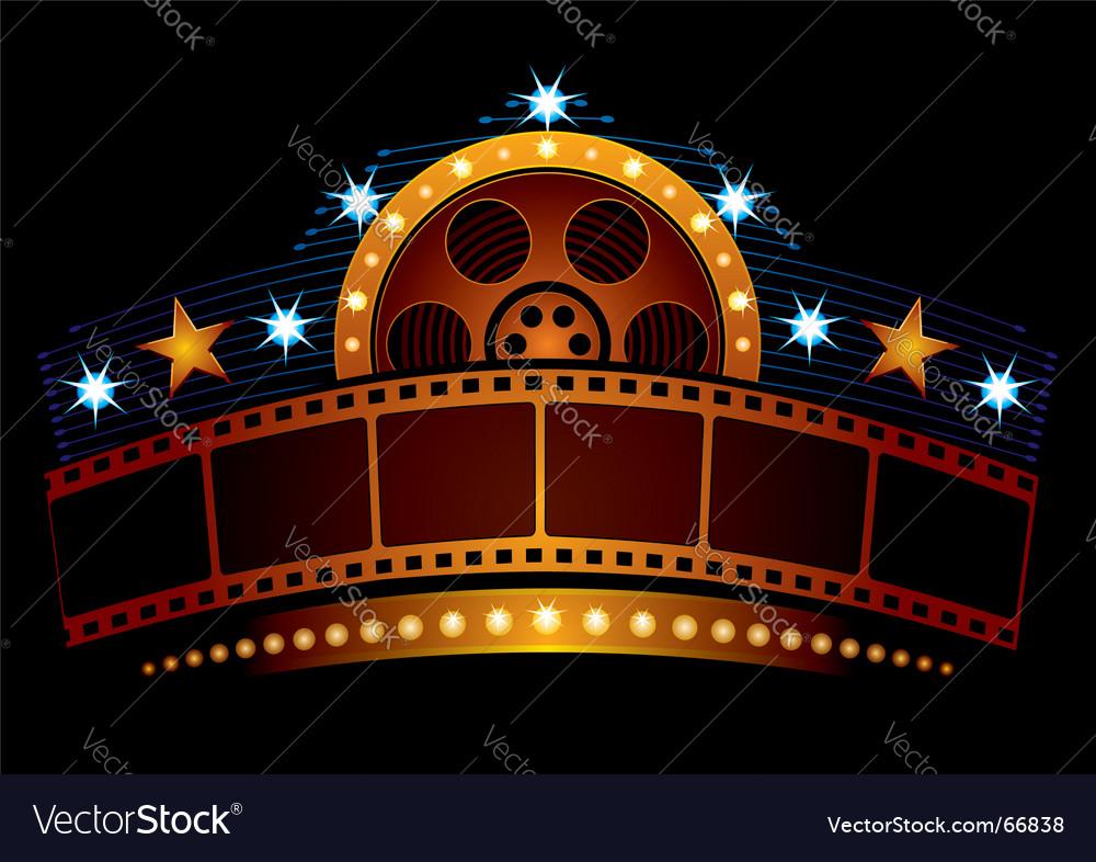 Cinema neon sign vector image