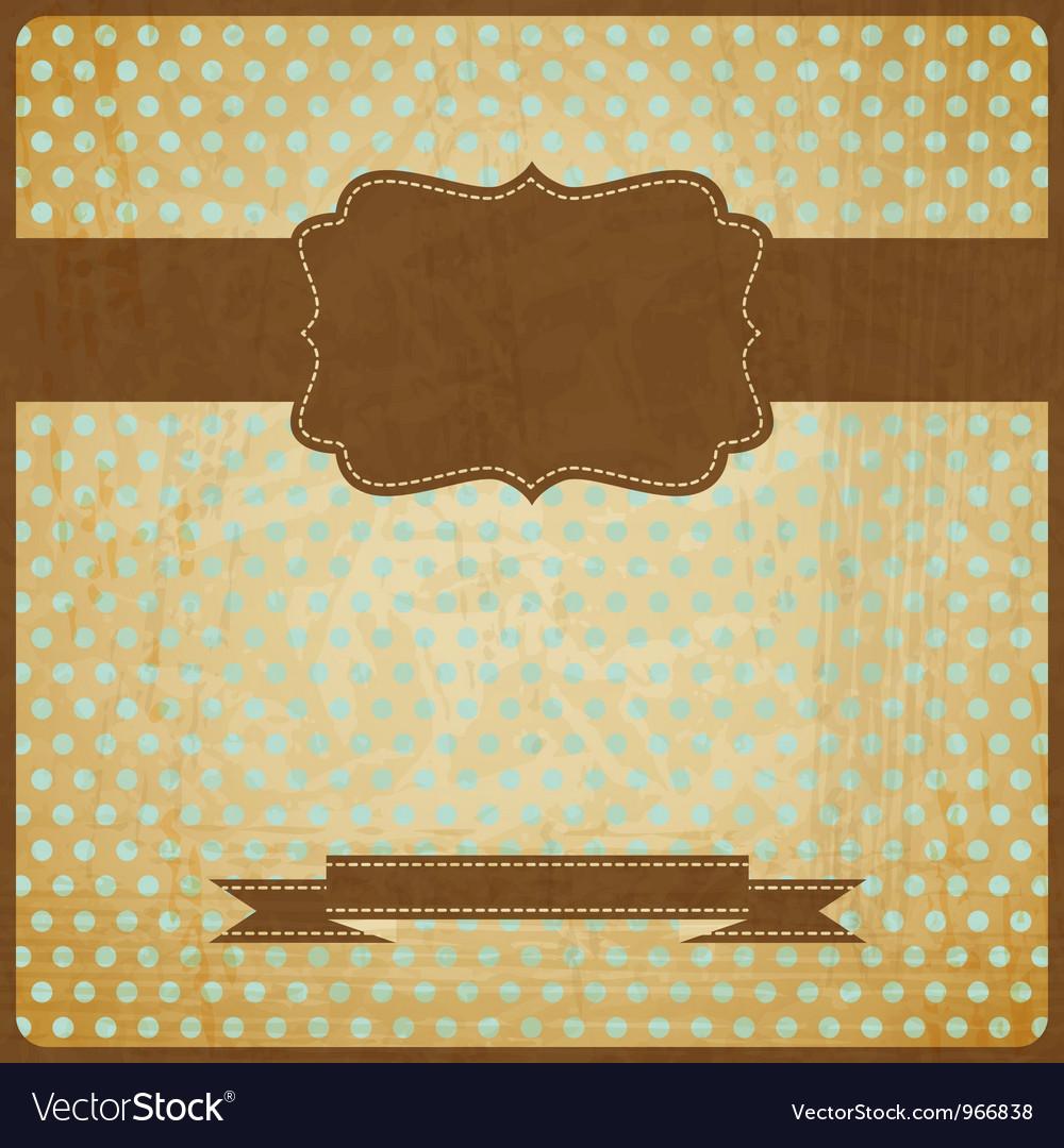 EPS10 vintage grunge old card Background with vector image
