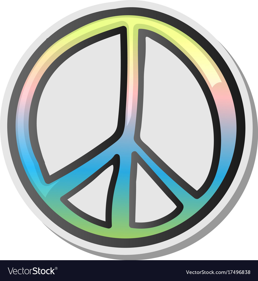 Peace sign emoji sticker emoticon Royalty Free Vector Image | 990 x 1080 jpeg 132kB